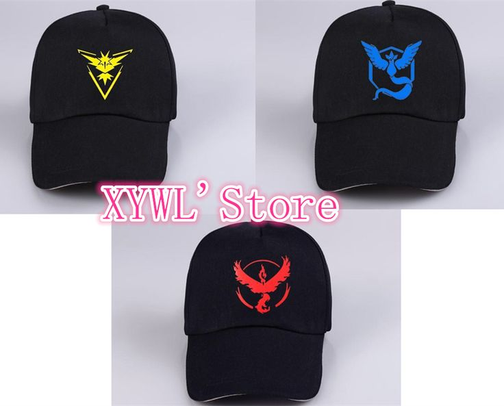 Poke пн Идти Cap Hat Команды Доблести Команды Мистик Команда Инстинкт pocket monster Cap Pokemon Hat купить на AliExpress