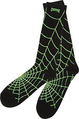 Creature Skateboards Webbers Black / Green Crew Socks – One size fits most: One (1) pair of Creature Skateboards Webbers Crew Socks from…