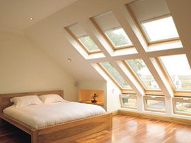 Velux combination windows provide a complete solution for the creation of large areas of light to loft bedroom conversions.