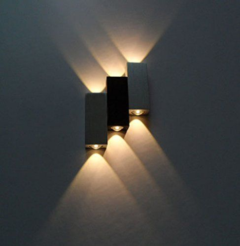 LUMINTURS 6W Dimmable LED Up/Down Wall Sconce Indoor Ligh...