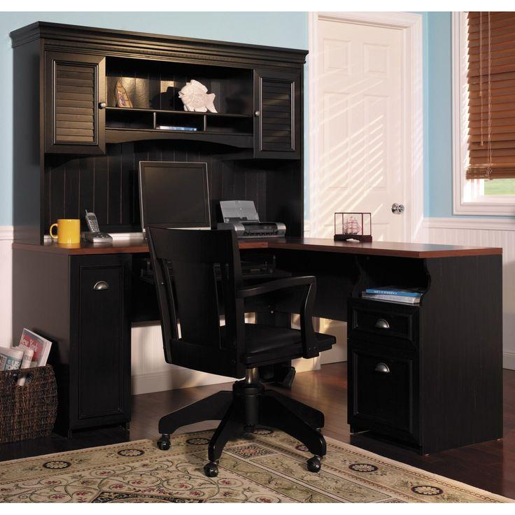 modern home office furniture for sale innovative desk ideas bush computer optional hutch antique black the complete workstation delivers designs