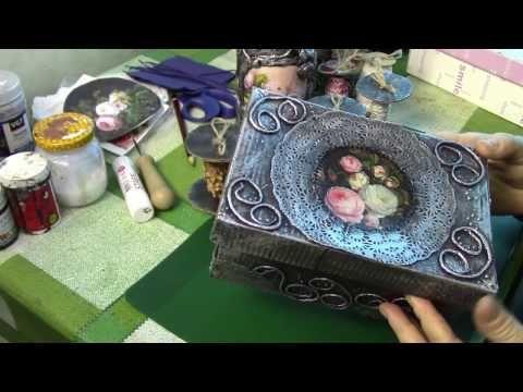 Шкатулка из обувной коробки своими руками. ХоббиМаркет - YouTube