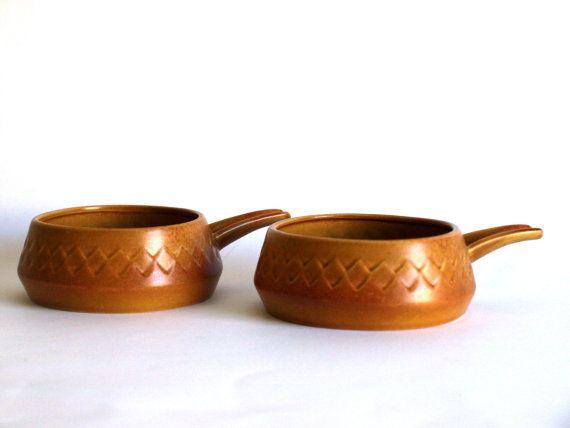 Diana Pottery Nefertiti Soup Bowls  Australian by FunkyKoala