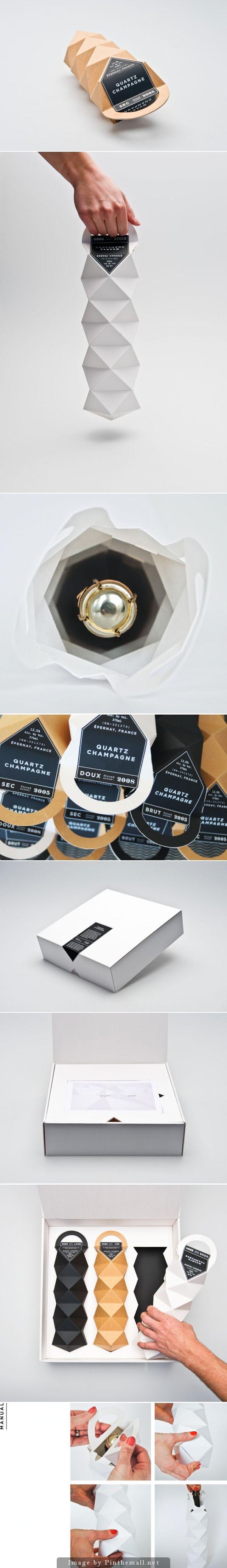 Quartz Champagne (Student Project), Designers: Max Molitor & Cajza Nyden - http://www.packagingoftheworld.com/2014/09/quartz-champagne-student-project.html