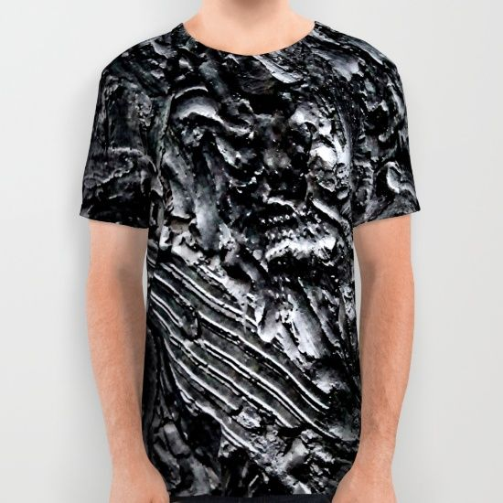 Bronzed All Over Print Shirt by MissJayPaints - $34.00