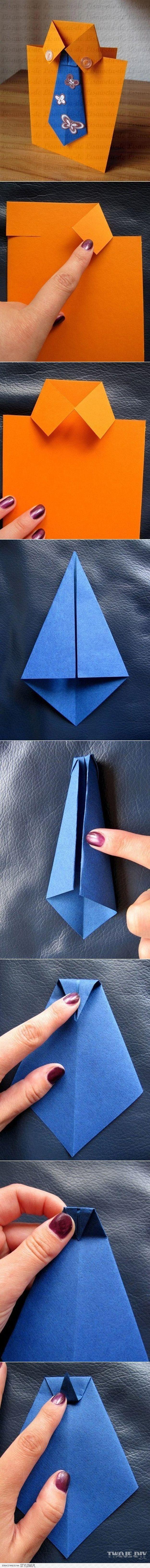 Cute DIY Father's Day Card Ideas | Necktie Card by DIY Ready at diyready.com/......