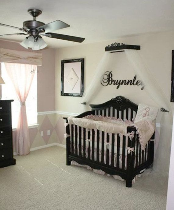 canopy for crib painted to match furniture by PrincessCanopyShop, $132.00