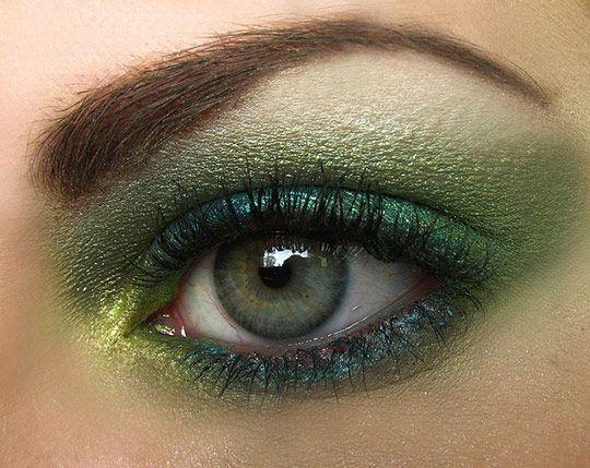 Модный макияж 2016 для зеленых глаз красивые фото видео