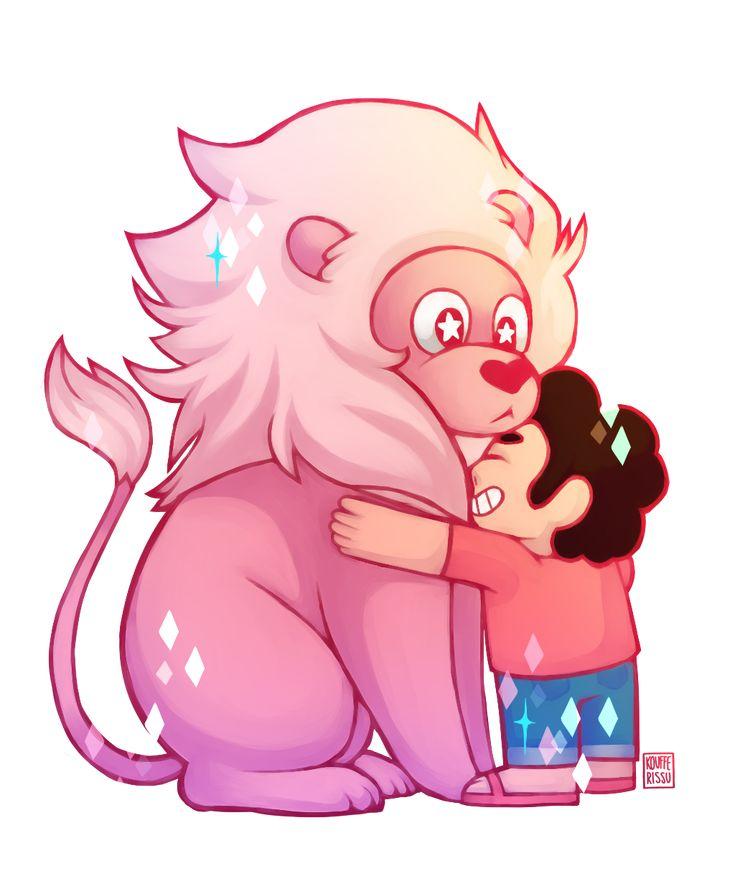 Steven Universe - Steven and Lion by NopplesAreGreat on DeviantArt