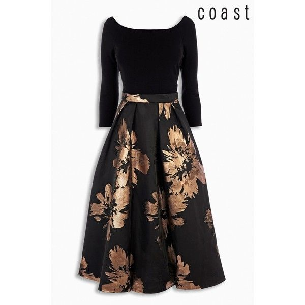 Coast Chloe Bardot Dress found on Polyvore featuring polyvore, women's fashion, clothing, dresses and vestidos