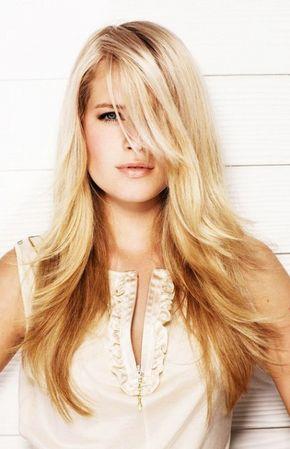 preciosos peinados para pelo largo en capas mujer y estilo