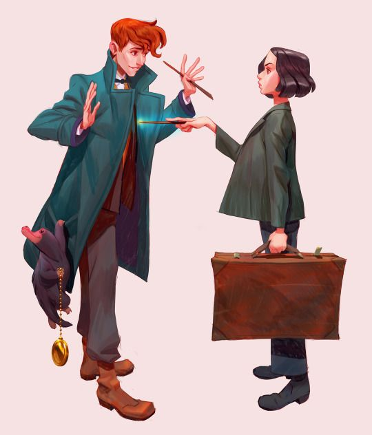 Fantastic Beasts - Newt and Tina by Newmilky