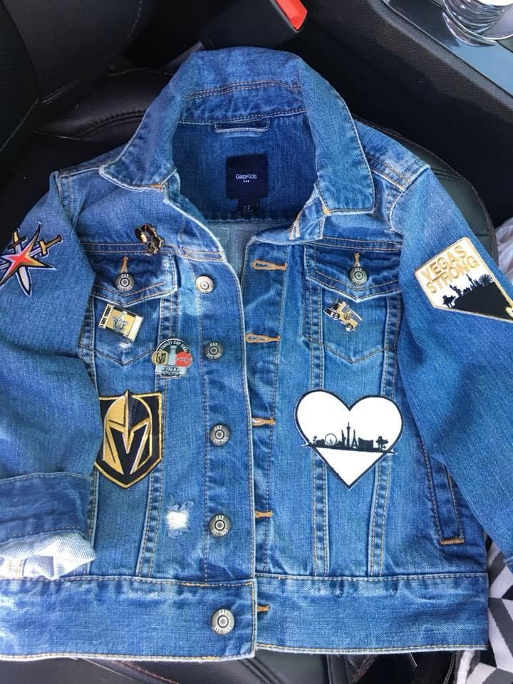 5813c8aa6 How to Make Your Own Vegas Golden Knights Jacket - VGK Ladies