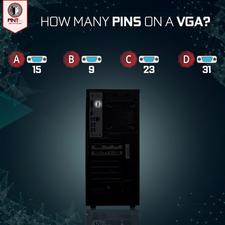 If you're passionate about computer technology, you would definitely know the answer to this simple question. Tell us the correct answer in comments! #VGA