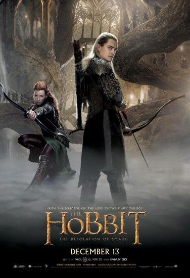 Tauriel Refuses To Get Into The Look-At-The-Butt! Pose In Hobbit Poster, Legolas Does It Instead
