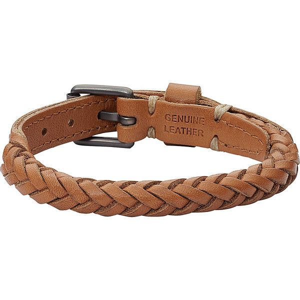 Fossil Retro Pilot Braided Bracelet Bracelet ($48) ❤ liked on Polyvore featuring jewelry, bracelets, black, fashion accessories, macrame bracelet, buckle jewelry, woven bracelet, woven leather bracelet and leather jewelry