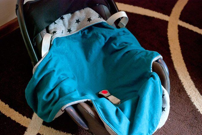 Freebook Maxicosy Decke, Decke für Maxicosy nähen, Nähen fürs Baby, Einschlagdecke fürs Baby nähen kostenlos