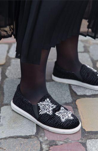 Baskets Topshop noires
