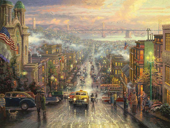 The Heart of San Francisco by Thomas Kinkade