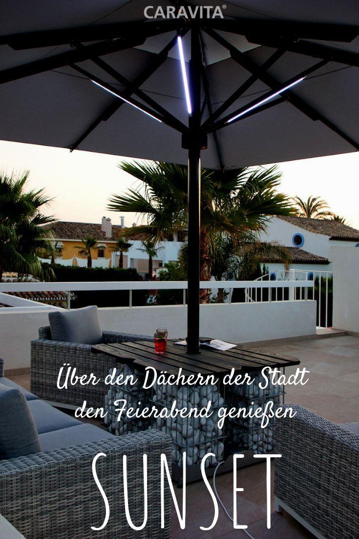 Schirmstander Sonnenuntergang Sitzmoglichkeit Schirmstander Sitzplatz Sitzplatz Sonnenschirmstander Sonnenschirm