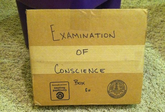 First Reconciliation Activity: Examination of Conscience Box