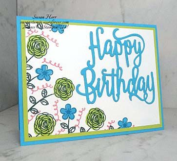 This is a fun card I made using a stamp set from the Stampin' Up! 2017/2018 Annual Catalog.  The set is called Happy Birthday Gorgeous.  The Happy Birthday Thinlits die goes with this set and…