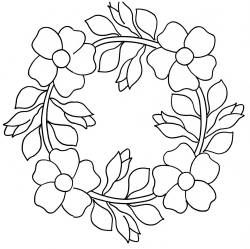 Wild Rose Wreath 13.5""