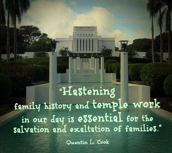 Hastening #family History And #temple Work Is Essential