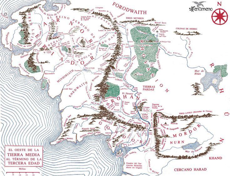 Mapa de la Tierra Media - Multimedia - Ilustraciones, dibujos y fotos sobre El Hobbit, El Señor de los Anillos, la Tierra Media y la obra de J.R.R. Tolkien - Elfenomeno.com