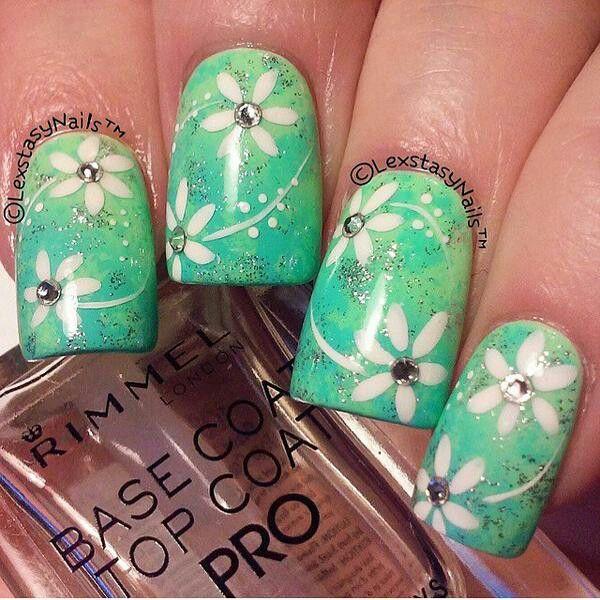 Mejores 12 imágenes de Nails en Pinterest | Uña decoradas, Diseño de ...