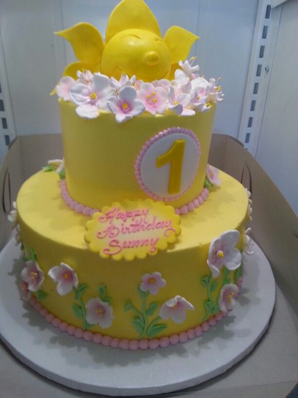 Birthday Cake Images With Name Sunny : Sunny s 1st Birthday Cake!! Sunny s 1st birthday Pinterest