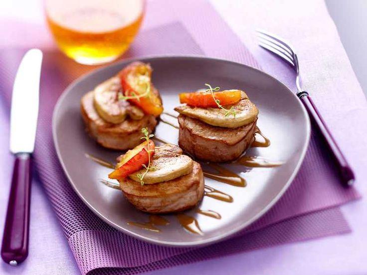 Découvrez la recette Tournedos rossini aux pommes sur cuisineactuelle.fr.