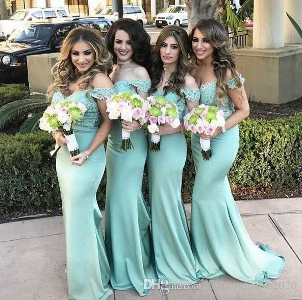 Teal Turquoise Cheap Bridesmaid Dresses Two Piece Off The Shoulder Applique Lace Mermaid Bridesmaids Dress Prom Party Gowns For Weddng Bridesmaid Dresses Cheap Bridesmaid Dresses Bridesmaids Dress Online with $102.86/Piece on Fashionhouse2020's Store | DHgate.com