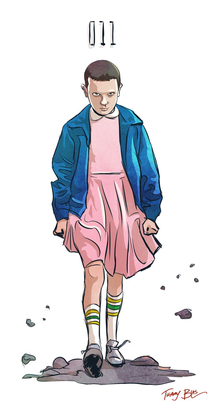 """terryblas: """"I also drew Eleven from Stranger Things tonight. """""""