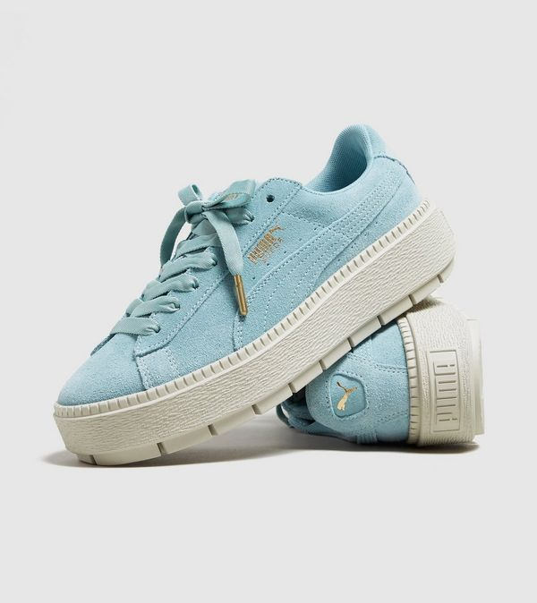 PUMA Suede Platform Trace Women's #women #shoes #aqua #footwear #white