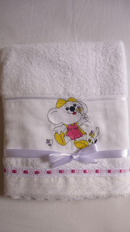 toalha de banho infantil atelie mãe e filha