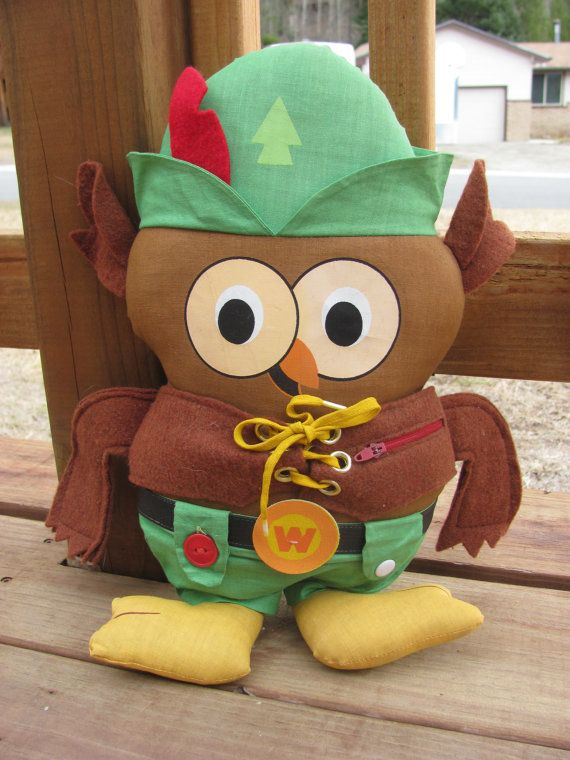 Vintage Woodsy Owl Stuffed Animal