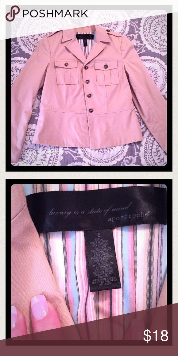 Kaki blazer made by Apostrophe, NWOT. Kaki blazer made by Apostrophe, NWOT. Apostrophe Jackets & Coats Blazers