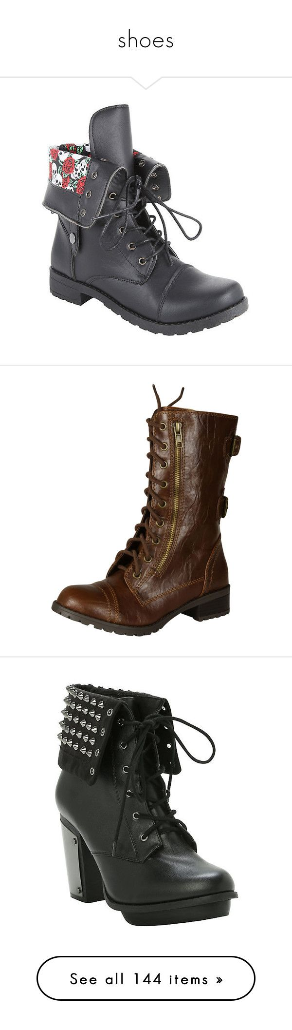 """""""shoes"""" by jcseagreen ❤ liked on Polyvore featuring shoes, boots, hot topic, army combat boots, lace up combat boots, combat booties, fold-over combat boots, lace up boots, beige and beige boots"""