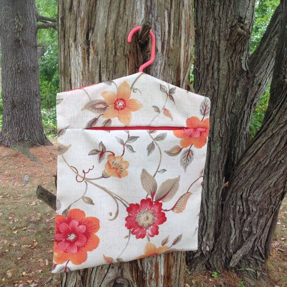 Laundry  Clothes Pin Bag  Peg Bag  Accessories by SueBrainDesigns