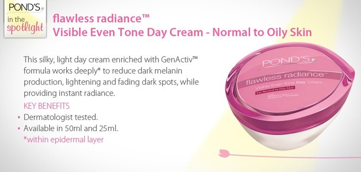 flawless radiance Visible Even Tone Day Cream - Normal to Oily #Skin