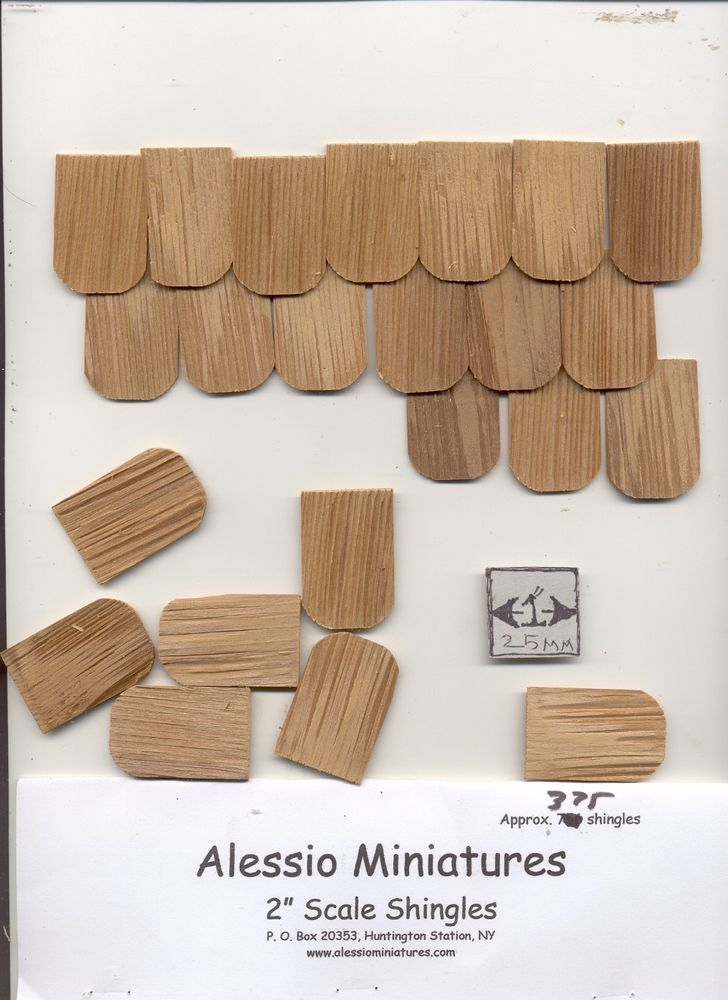 Playscale / Fashion Dollhouse Shingles. Split Cedar Shake Shingles. western red or northern white cedar 375 pcs. Made in the USA. | eBay!