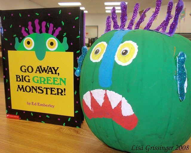 Go Away Big Green Monster Pumpkin