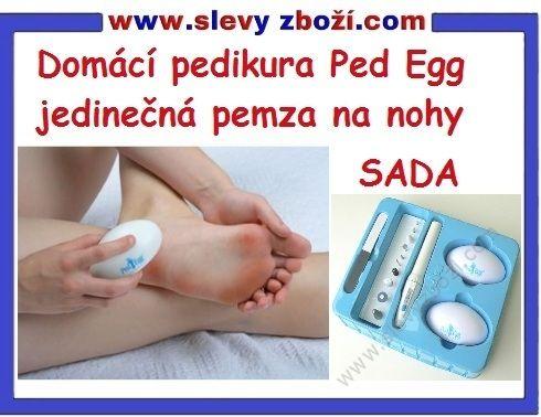 Domácí pedikúra Ped Egg.Jedinečná pemza na nohy Ped Egg,je tvořena z jemných pilníčků z nerezové oceli.