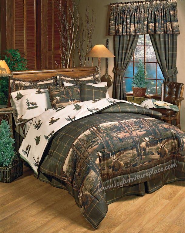 Moose Mountain Bedding Amp Decor Rustic Cabin Bed Frames