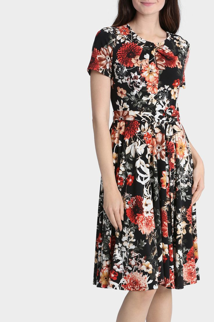 LEONA BY LEONA EDMISTON Aster Floral Keyhole Neckline Dress was $139.95 now $83.97 July 2016 Waist tie. Round neck. Short sleeves. Back keyhole with button closure. 95% polyester, 5% elastane. Exclusive to MYER. Style No. XL0684.