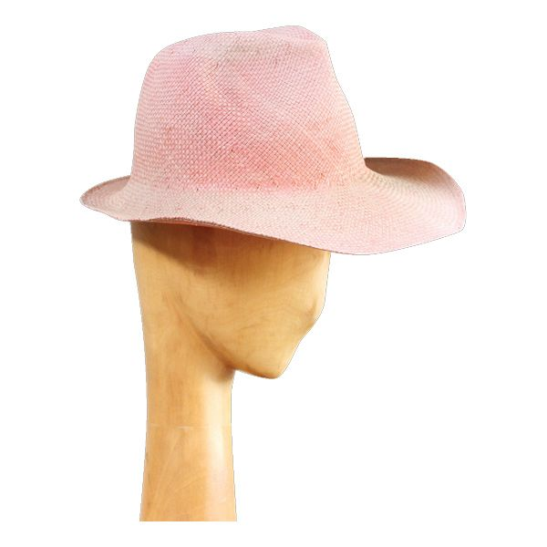 Elevate your attire with Reinhard Plank's Dennis Ramie in pink. Sporting a feminine pre-loved look, complete with warped brim, the Italian made straw hat is a gorgeous union of form and function.  www.reinhardplank.it