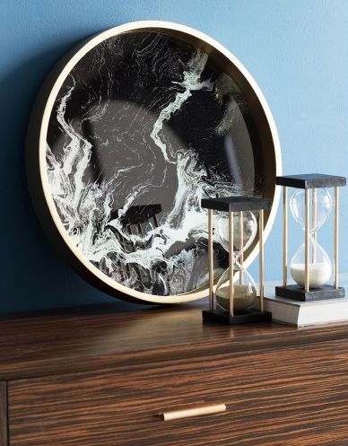 NEW: Our Swirl marble trays are the newest pieces to hit our industrial home décor collection. Serve up beverages, in style or simply style vases and candles with a subtle swish of elegance. Our Swirl Black Marble Tray features a circular outer gold frame, and a swirled black marble base for a bold, classic look. $150RRP AUD. For wholesale enquiries, email: info@philbee.com.au