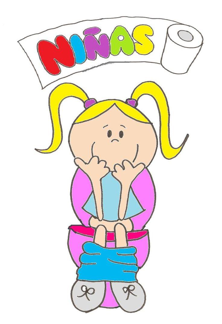 Imagenes De Letreros Baños:Letrero para baño de niños