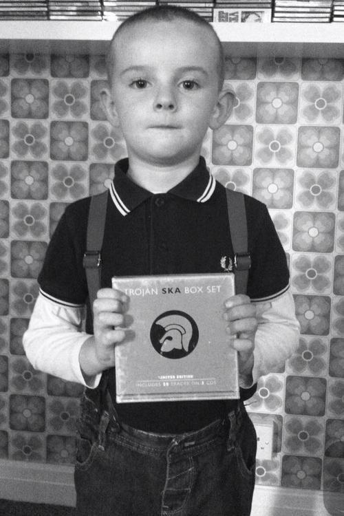 little skinhead boy